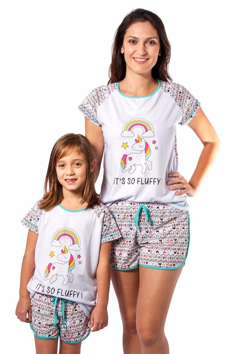 4a37c24ee kit pijamas unicornio 2 infantil e 1 adulto frete gratis. Carregando zoom.