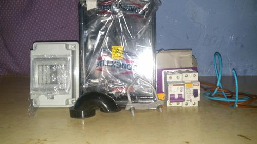 kit pilar edenor, caño con sello, diyuntor caja de medidor