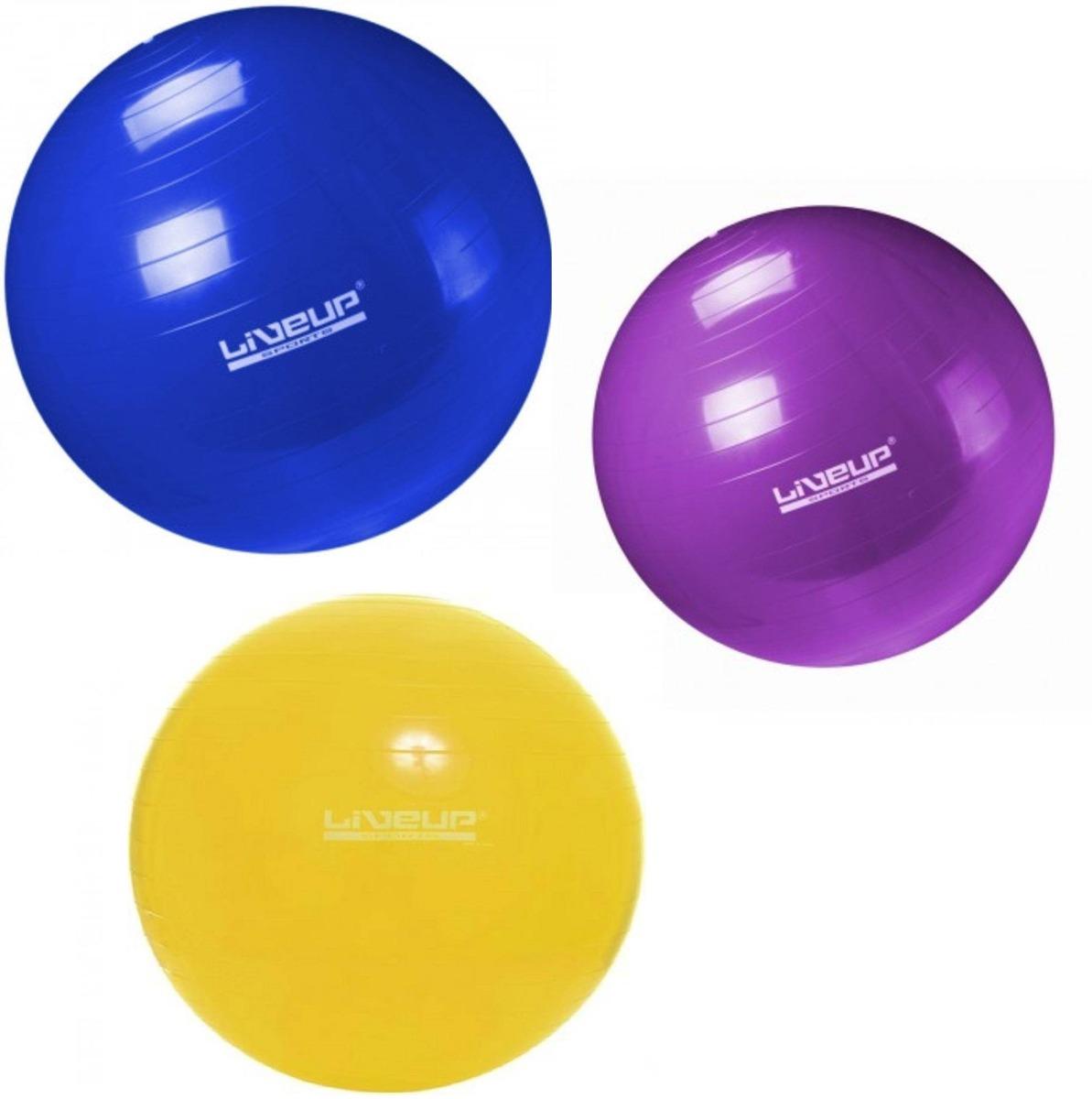 kit pilates com 3 bolas suíças tamanhos 55cm + 65cm + 75cm. Carregando zoom. d1e3682a3e1b5