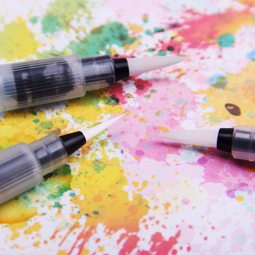 kit pincel aquarela caneta water brush watercolor