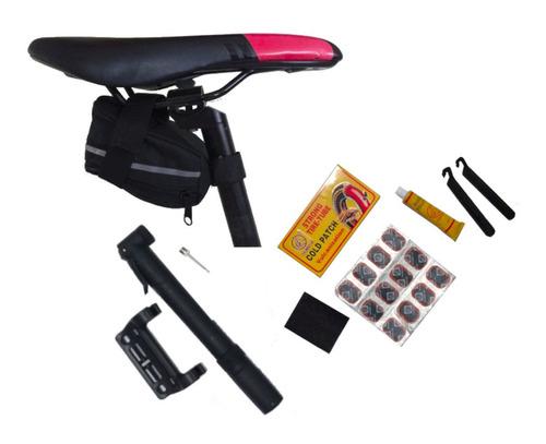 kit pinchazos parche bolso inflador/bomba bicicleta