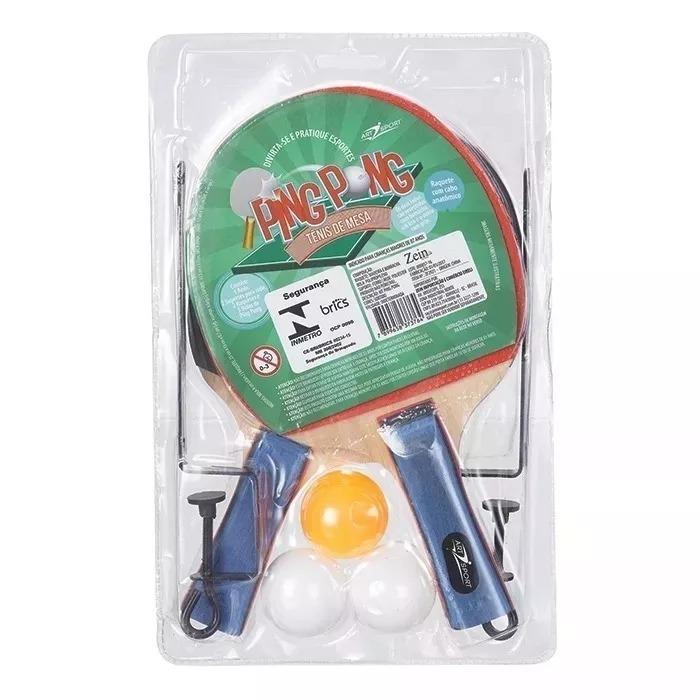 Kit Ping Pong 2 Raquetes + 3 Bolinhas + 1 Rede Profissional - R  57 ... e0d7d0a805fed