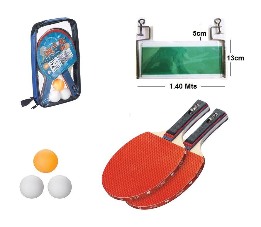 Kit Ping Pong Com Rede 2 Raquetes 3 Bolinhas Capa Transporte - R  44 ... 2e4b6d2310c93