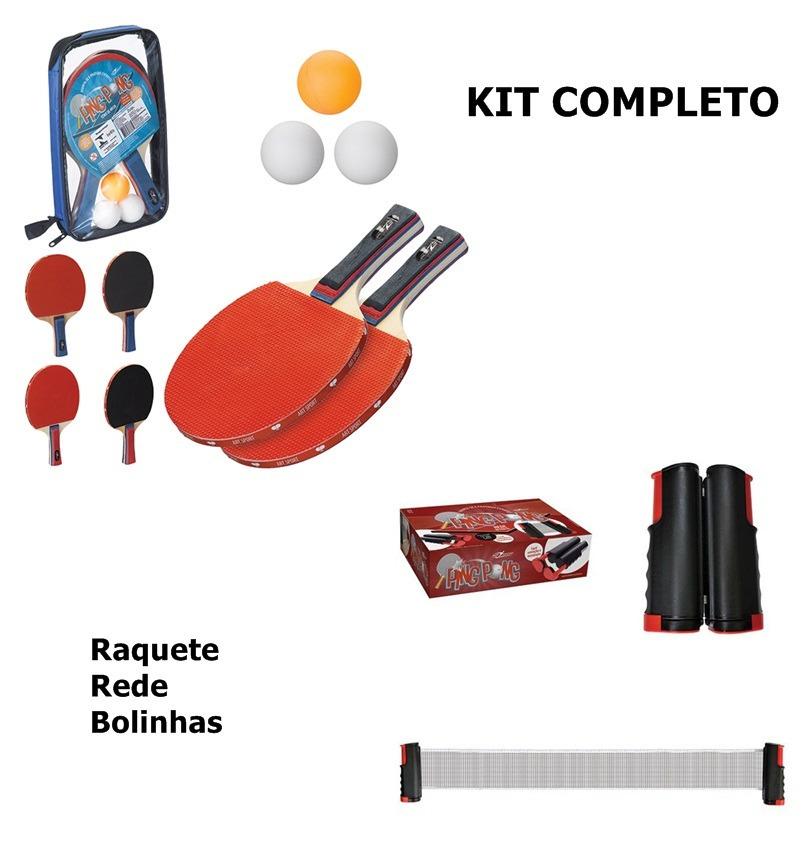3d8a53cc4 Kit Ping Pong Tenis Mesa Rede Retratil 1