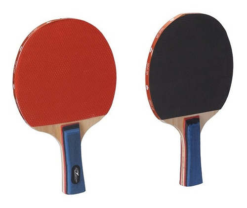 kit ping pong tênis de mesa com 2 raquetes e 3 bolinhas
