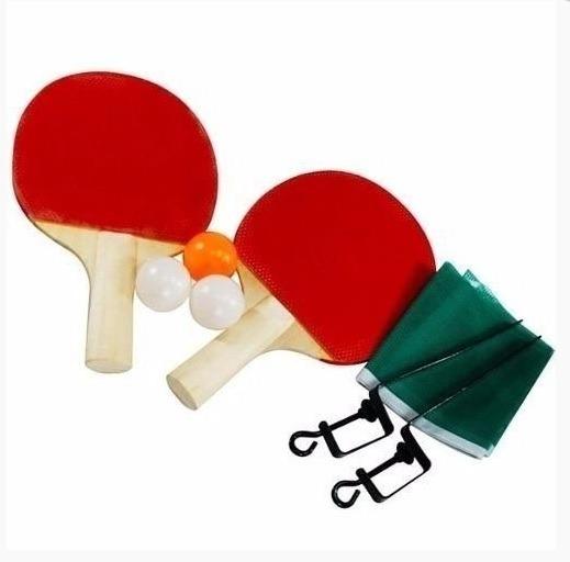 Kit Ping Pong Tênis Mesa Raquetes Rede Bolinhas - R  24 feaa33708e013