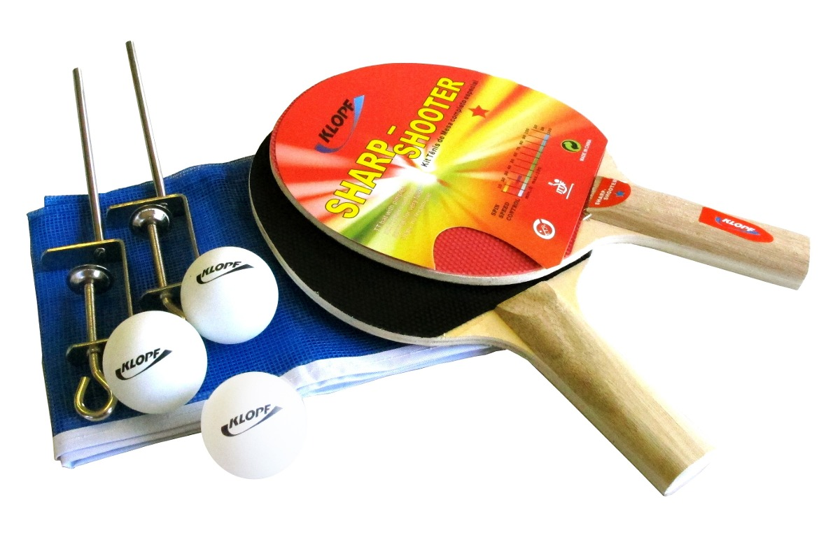 5205a5258 kit ping pong tênis mesa raquetes rede bolinhas klopf  5030. Carregando  zoom.