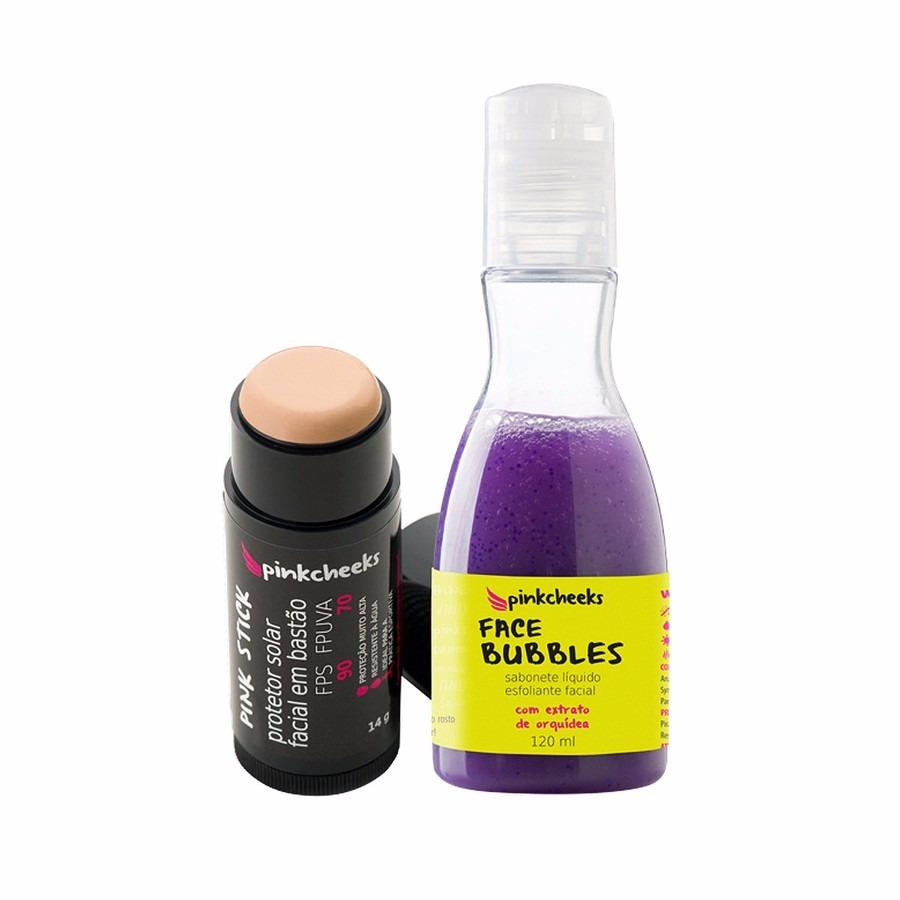 f1814ecda kit pink cheeks  protetor solar facial + sabonete esfoliante. Carregando  zoom.