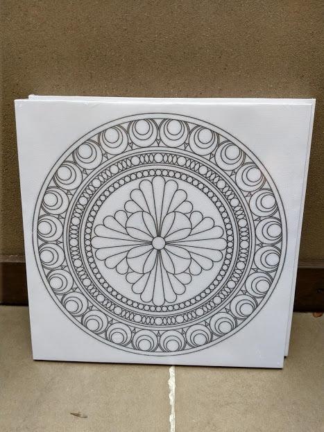 Kit Pintura Arte Mandalas Bastidores Acrilicos Pinceles C20 550 - Pinturas-de-mandalas