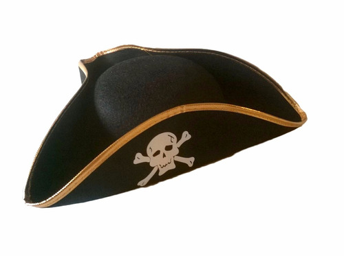 kit pirata chapeu e espada para fantasia jack,caribe - 3 pçs