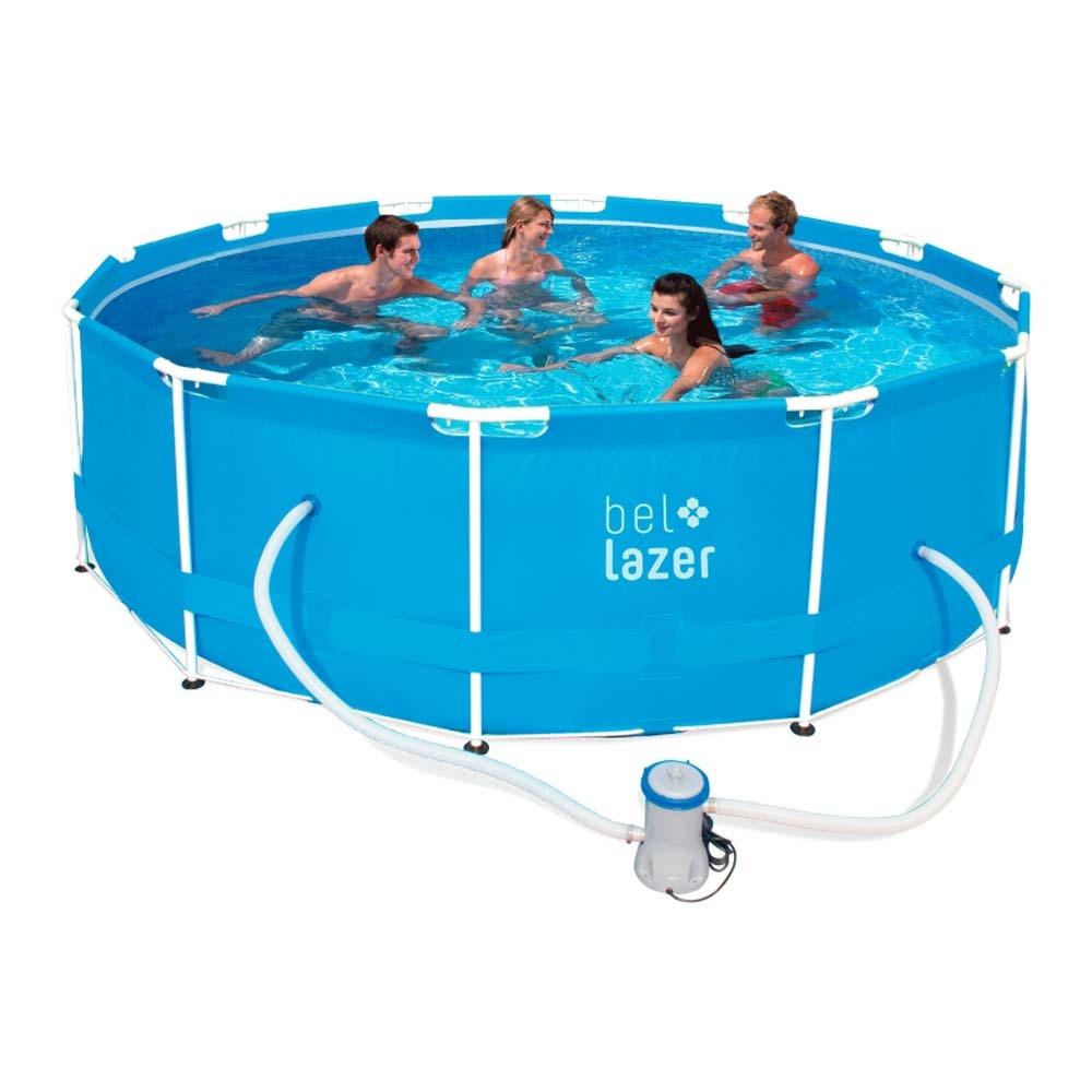 Kit piscina arma o 10000 litros capa bomba filtro for Calcular litros piscina