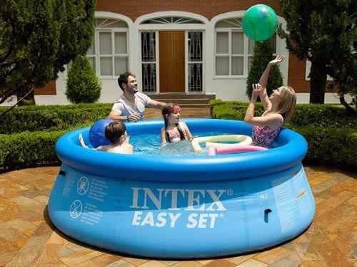 kit piscina inflável set 2.400 + capa + bomba filtro 110v