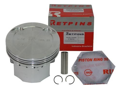 kit pistão com anel xt 600 / tenere 600cc 0,50 marca retpins