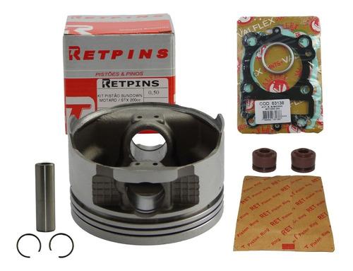 kit pistão e anéis stx 200 / motard 200 0,50 - retpins