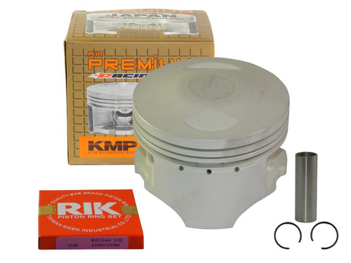 kit pistão kmp premium  bros 150 ohc 3.5mm 67mm