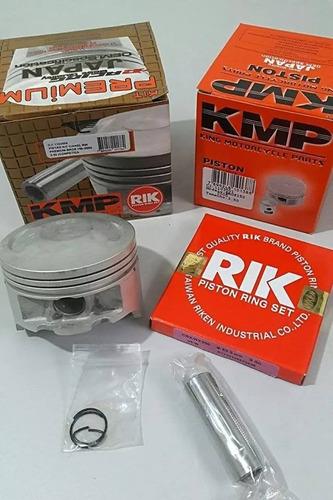 kit pistão taxado crf 230 anéis rik competição 67mm