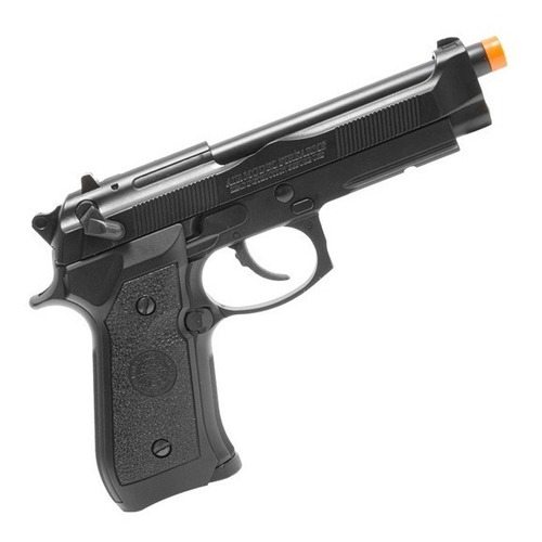 kit pistola airsoft pt92 m92 gbb 6mm blowback + acessórios