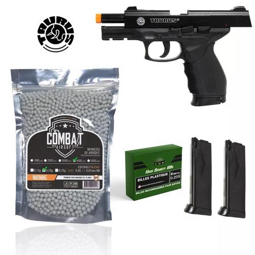 kit pistola airsoft spring taurus 24/7 cybergun + 4000bbs