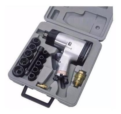 kit pistola neumatica 1/2  eurotech con tubos impacto