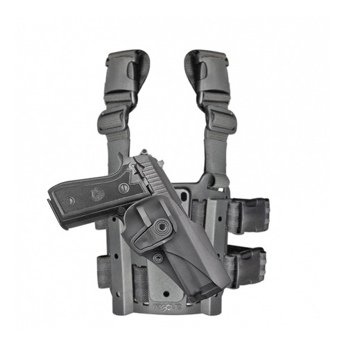 kit pistolera muslera modelo beretta 92/96 polimero nivel de seguridad 2