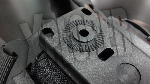 kit pistolera zurda nivel 2 bersa + plataforma de muslo