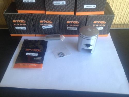 kit piston con anillos ax100 suzuki a 0.25 mm evol