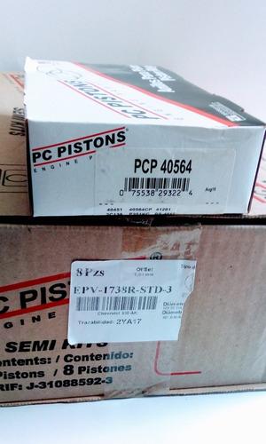 kit piston y aros chevrolet 350 piston plano a/c a std