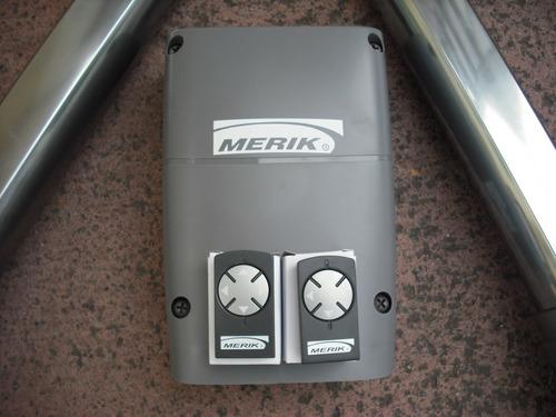 kit pistones merik power 230 plus portón abatible con chapa