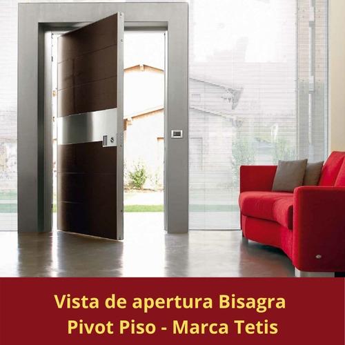 kit pivot piso tetis  acero inoxidable pesado puerta