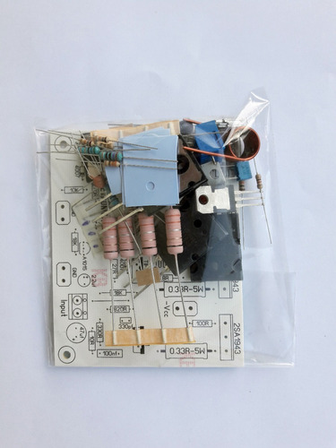 kit placa + componentes para montar amplificador 200w rms