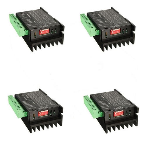 kit placa controladora mach3 + 4 drivers tb6600 4a dc9-40v