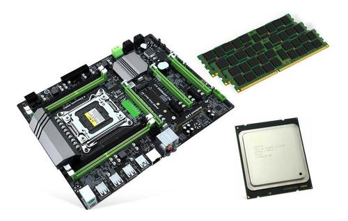 kit placa mae lga2011 xeon + e5-2680 v2 16gb 512gb gtx1060 3