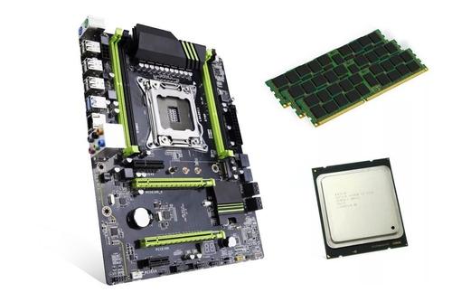 kit placa mae lga2011 xeon + e5-2680 v2 até 3.6ghz 32gb mem
