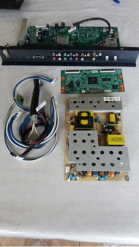 kit placa mai tv semp toshiba lcd 4046 fda +fonte + t-com