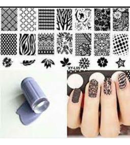 Kit Placa Para Stamping Nails Artsellos Par Decorar Uñas