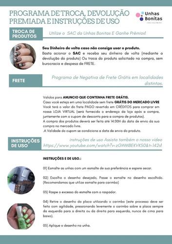 kit placas betina 10 pç  #frete ,carimbo, esmalte grátis#