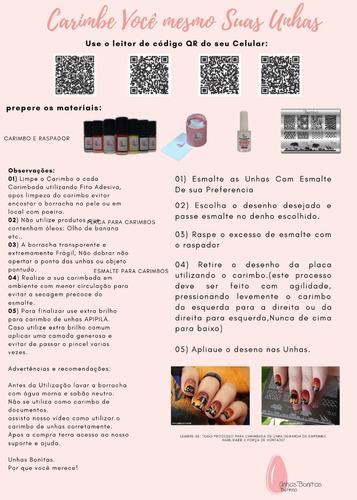 kit placas e carimbos de unhas conforme descrição do produto