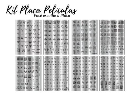 kit placas para carimbo  de unhas películas q grátis esmalte