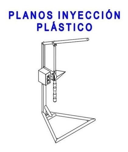 kit planos construye maquina inyección plástico manual