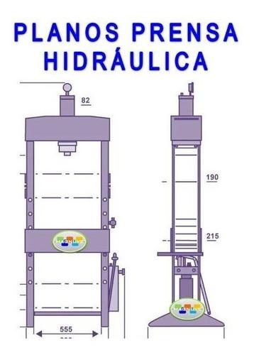 kit planos maquina construye prensa hidráulica ajustable
