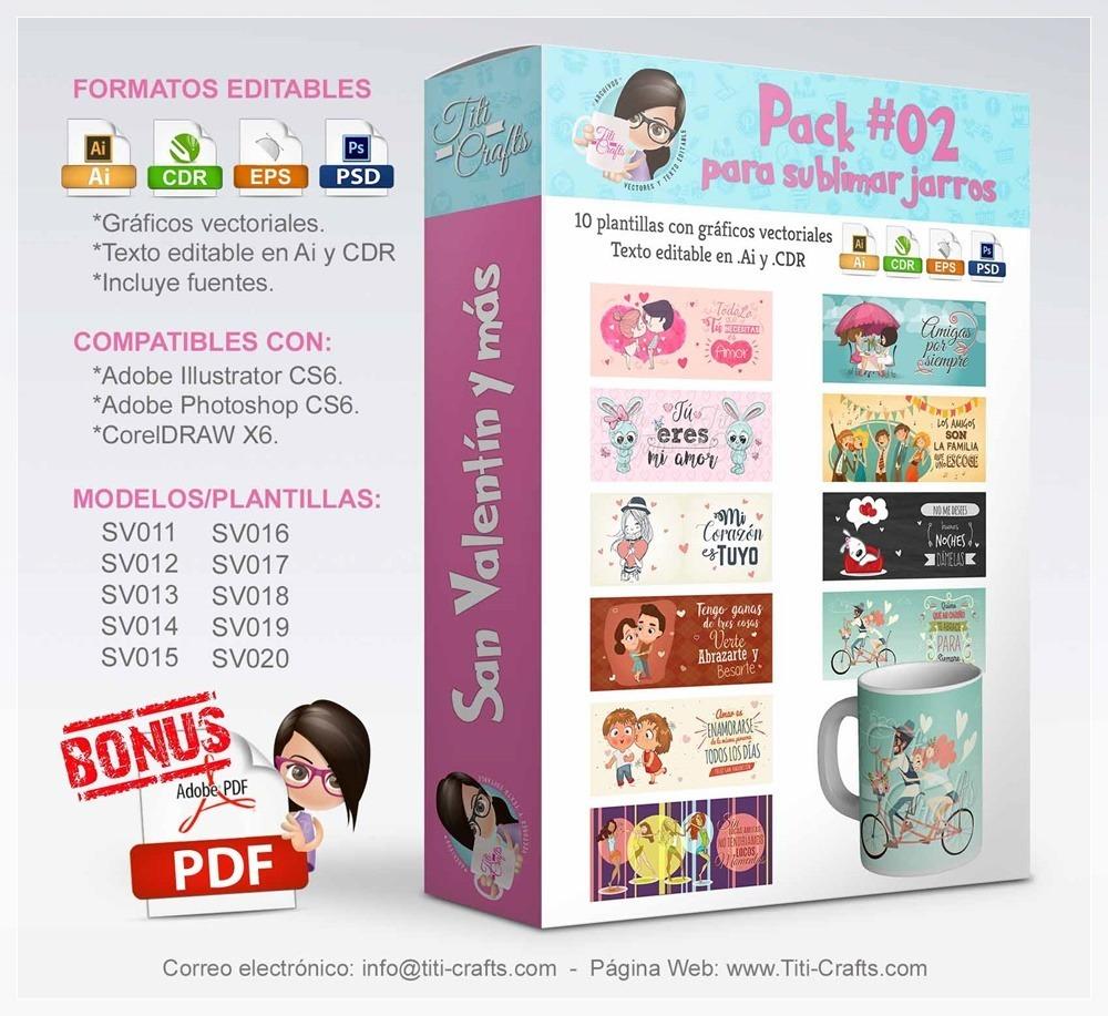 Kit Plantillas Tazas Amor, San Valentin Y Mas Sublimación - $ 70,00 ...