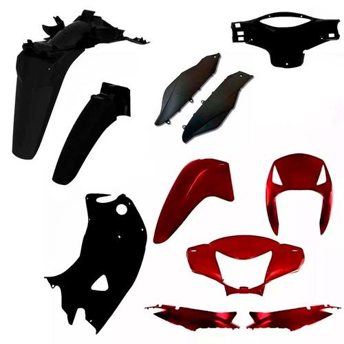 kit plástico carenagem biz 125 es ks ano 2007 2008  vermelho