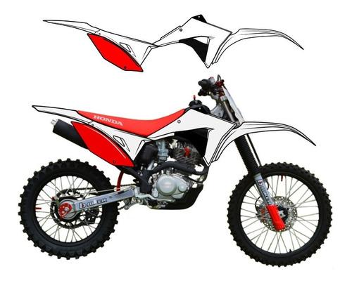 kit plastico crf230 biker elite 2019 branco vermelho +brinde