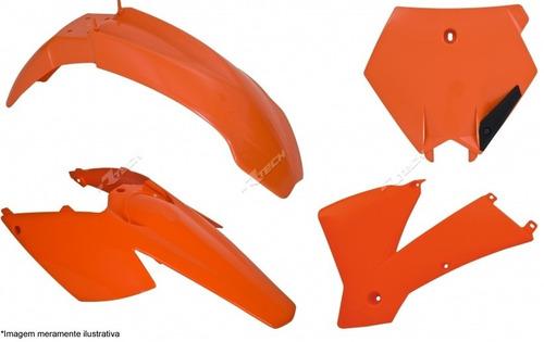 kit plastico ktm-sx/exc 125 a 525 03 laranja c/number