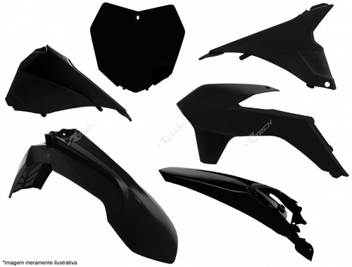 kit plastico ktm-sx/sxf 125 a 450 13 em diante preto c/n