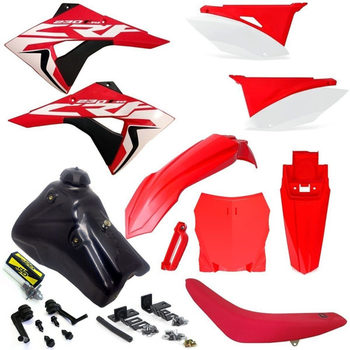 kit plástico number plate nx 400 falcon crf 230 tanque 7 l