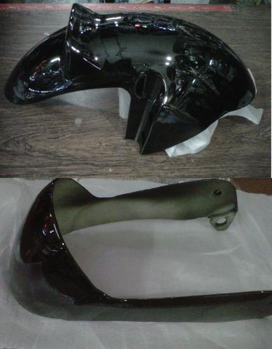 kit plasticos guerrero dl top 110 tunning negro - 2r