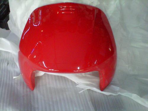 kit plasticos guerrero trip 110cc roja 11 piezas - 2r