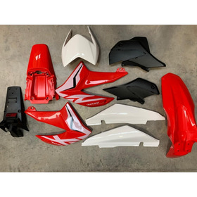 Kit Plasticos Honda Xr 150 2019 Rojo C/calcos