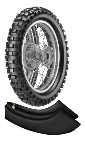 kit pneu + camara crf 230 klx 300 120/100-18 68m cr400 vipal